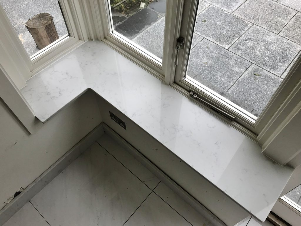 Quartz Carrara 20 mm for sills in conservatory